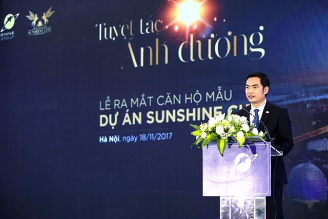 Ông Đỗ Văn Trường - TGĐ Sunshine Group cam kết về tiến độ của dự án với khách hàng