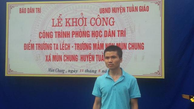 Phó Tổng Biên tập Phạm Tuấn Anh phát biểu tại lễ khởi công công trình phòng học Dân trí tại điểm trường Ta Lếch