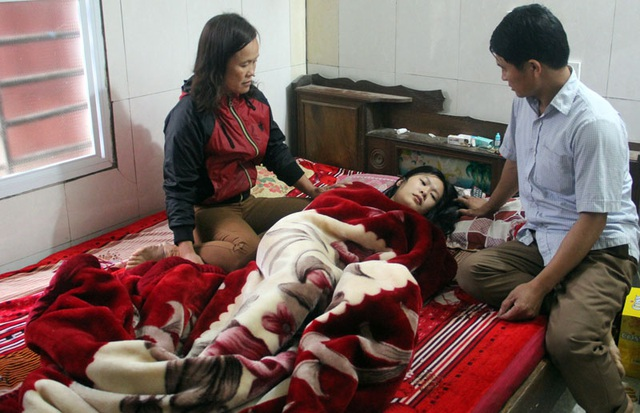 Sau vụ tai nạn hôm 29 Tết, đến nay chị Hồng vẫn chưa hồi phục sức khỏe.