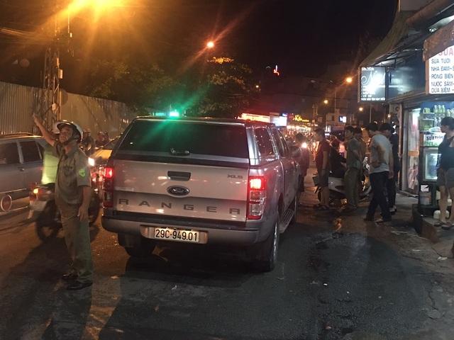 Chiếc ô tô bán tải gây tai nạn