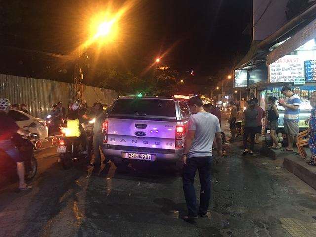 Chiếc ô tô bán tải gây tai nạn ở đường Nguyễn Biểu