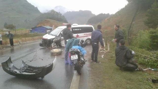 Hiện trường vụ tai nạn. (Ảnh: CTV cung cấp).