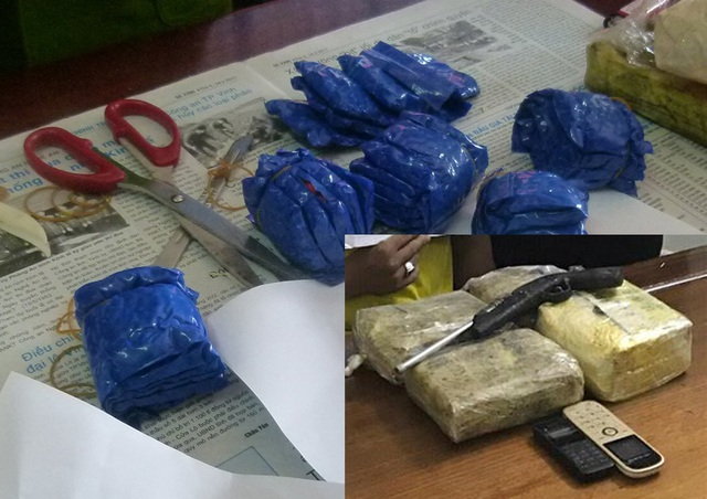 Tang vật vụ án gồm 16.000 viên ma túy tổng hợp, 1 kg ma túy đá và 1 khẩu súng.