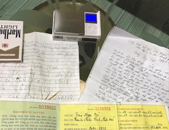 Tài liệu và tang vật cơ quan Công an thu giữ được