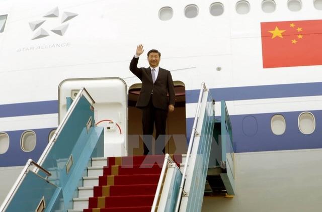 Tổng Bí thư - Chủ tịch Trung Quốc Tập Cận Bình rời Thủ đô Hà Nội, kết thúc tốt đẹp chuyến thăm cấp Nhà nước tới Việt Nam (ảnh: TTXVN)
