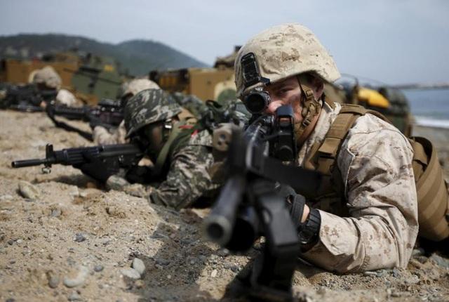Một cuộc tập trận quân sự chung giữa Mỹ và Hàn Quốc (Ảnh: Reuters)