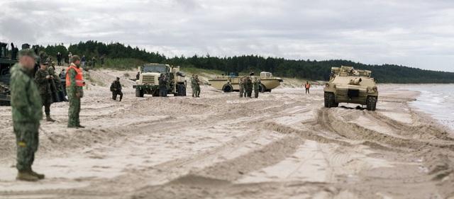 Cuộc tập trận tại Litvia (Ảnh: Latvijas armija/Flickr)