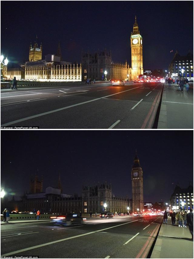 Tháp đồng hồ Big Ben ở London, Anh.