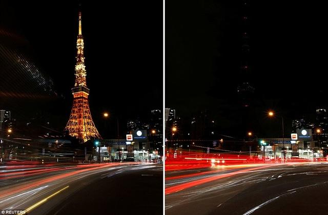 Tháp Tokyo ở Tokyo, Nhật Bản.