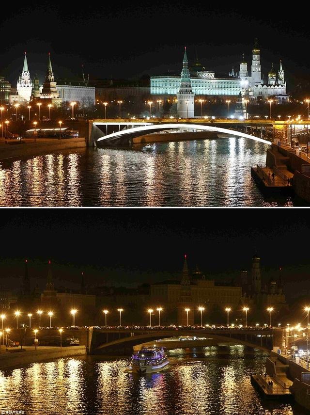 Điện Kremlin ở Moscow, Nga.