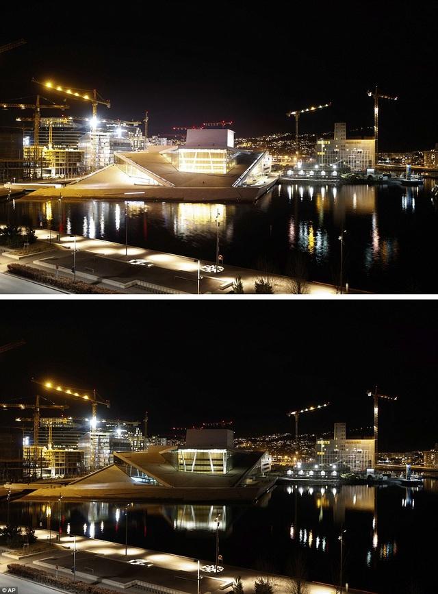 Nhà hát Opera Oslo ở Oslo, Na Uy.