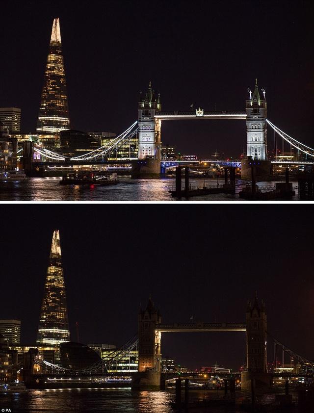 Cầu Tower Bridge ở London, Anh.