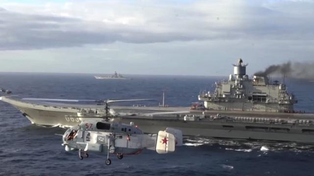 Tàu sân bay Đô đốc Kuznetsov của Nga. (Ảnh: Getty)