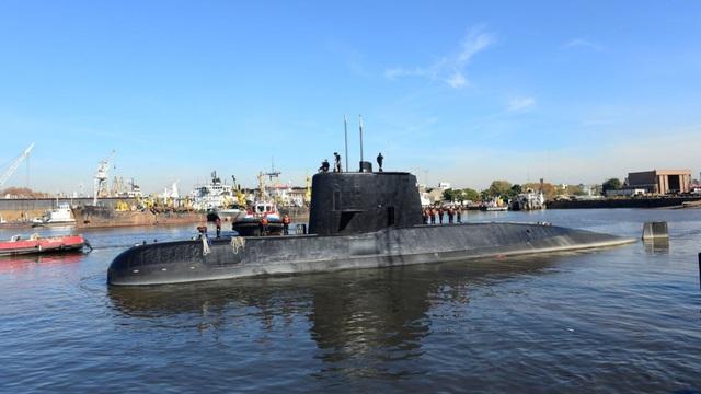 Tàu ngầm Hải quân Argentina ARA San Juan (Ảnh: EPA)