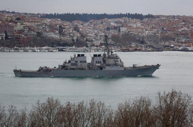 Tàu khu trục USS Porter của Hải quân Mỹ. (Ảnh: Reuters)