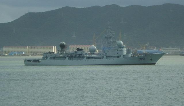 Tàu do thám của Hải quân Trung Quốc. (Ảnh: USNI)