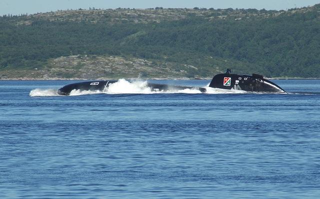 Cận cảnh tàu ngầm hạt nhân Daniil Moskovsky uy lực của Hạm đội phương Bắc.