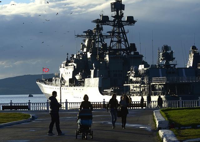 Tàu săn ngầm Severomorsk hiện đại của Hải quân Nga.
