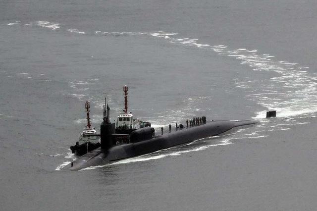 Tàu ngầm hạt nhân USS Michigan của Mỹ. (Ảnh: Reuters)