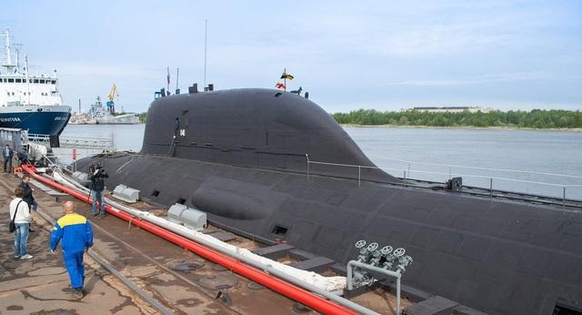 Tàu ngầm lớp Yasen-M đầu tiên, K-560 Severodvinsk. (Ảnh: Sputnik)