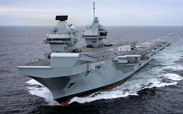 Tàu sân bay HMS Queen Elizabeth của Anh (Ảnh: Royal Navy)
