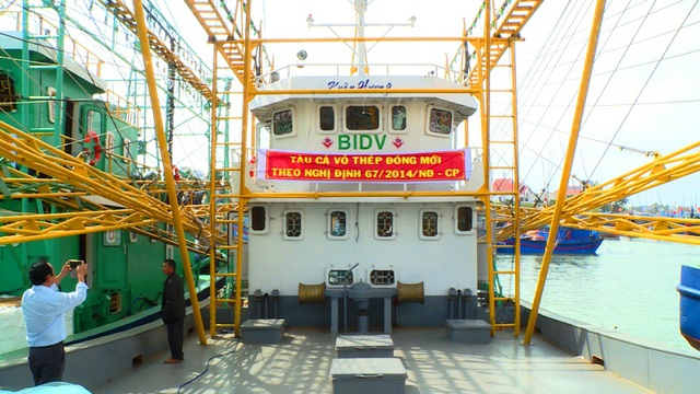 Cận cảnh tàu vỏ thép được trang bị hiện đại cho ngư dân vươn khơi