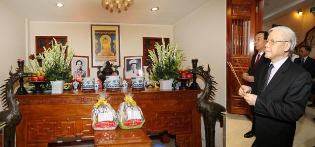 Nhân kỷ niệm 50 năm Ngày mất của Đại tướng Nguyễn Chí Thanh ( 6/7/1967- 6/7/2017), sáng 6/7/2017, Tổng Bí thư Nguyễn Phú Trọng, Bí thư Quân ủy Trung ương đến thắp hương tại Nhà tưởng niệm Đại tướng Nguyễn Chí Thanh, thành phố Hà Nội. Ảnh: Trí Dũng – TTXVN