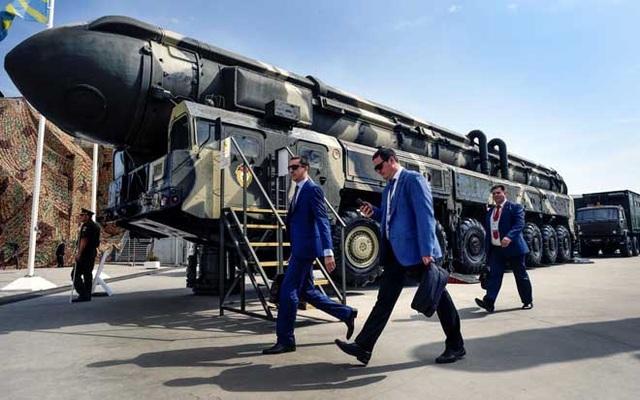Tên lửa đạn đạo liên lục địa Topol RS-12M của Nga.