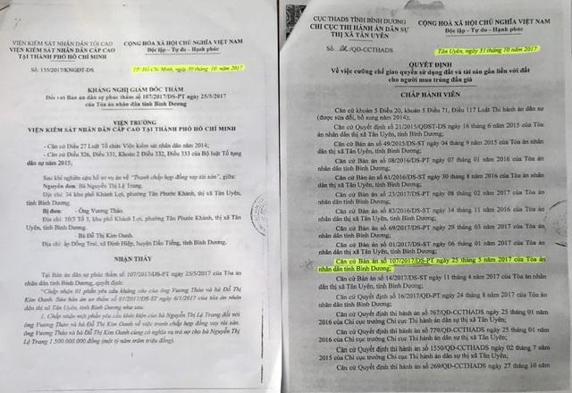 Viện KSND Cấp cao tại TP.HCM quyết định tạm đình chỉ thi hành bản án dân sự phúc thẩm số 107/2017/DS-PT ngày 25/5/2017 của TAND tỉnh Bình Dương cho đến khi có Quyết định giám đốc thẩm.
