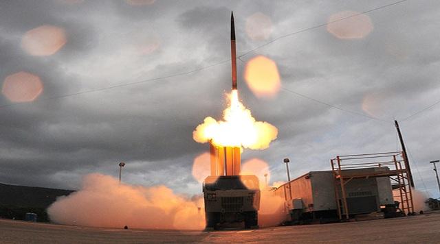 Hệ thống phóng thủ tên lửa THAAD của Mỹ (Ảnh: AFP)