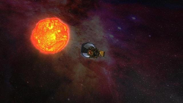 Hình ảnh minh họa tàu thăm dò đang tiến về phía mặt trời.