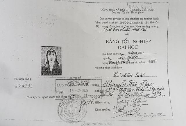 Bằng Tốt Nghiệp Đại Học Luật Hà Nội Của Bà Nguyễn Thị Nga - Thẩm Phán