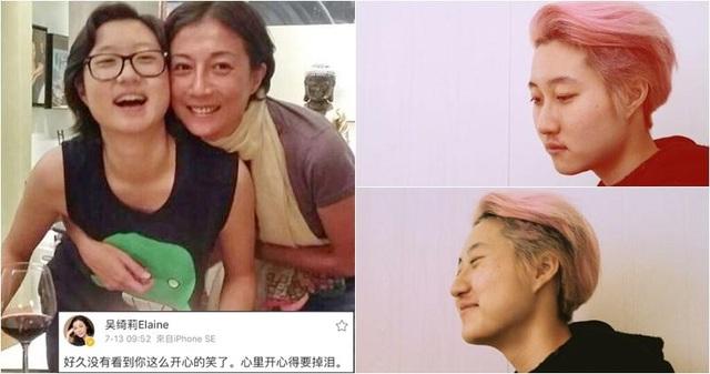 Ngô Ỷ Lợi hạnh phúc khi con gái Ngô Trác Lâm mạnh khỏe và mỉm cười trở lại.