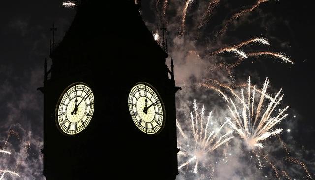 Ngoài thủ đô London, các hoạt động chào mừng năm mới diễn ra ở nhiều địa điểm trên khắp nước Anh. (Ảnh: Reuters)