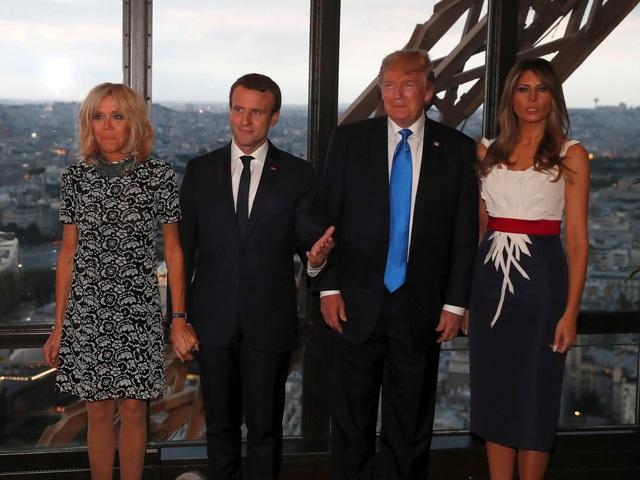 Dự tiệc chiêu đãi là một trong rất nhiều hoạt động của Tổng thống Trump trong chuyến công du Pháp. (Ảnh: Reuters)