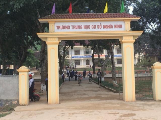 Trường THCS xã Nghĩa Bình, nơi được cho là xây dựng trên vùng đất nhiễm thuốc trừ sâu?.