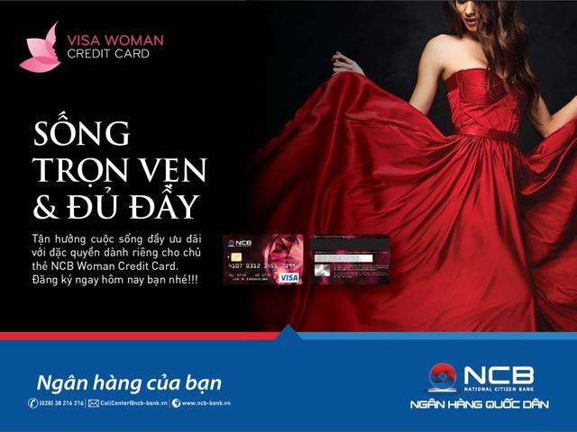 Mua sắm thả ga với thẻ tín dụng NCB Visa Woman credit card - 1