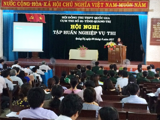 Kỳ thi THPT Quốc gia năm 2017 có nhiều điểm mới nên ngành giáo dục Quảng Trị đã có quá trình chuẩn bị kỹ lưỡng cho kỳ thi sắp diễn ra