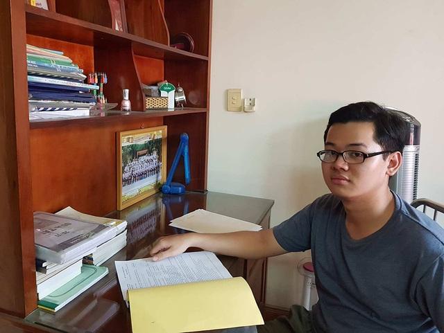Thí sinh Nguyễn Trung Duy Anh học đều hết các môn. Kết quả thi THPT quốc gia của em rất cao trong đó 3 môn khối B của em đạt 30 điểm. (ảnh NVCC)