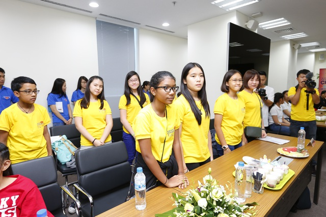 Nhiều đoàn nghệ thuật thiếu nhi đã có mặt tại Hà Nội để bắt đầu bước vào ngày hội dành cho Thiếu nhi ASEAN. Ảnh: BTC.
