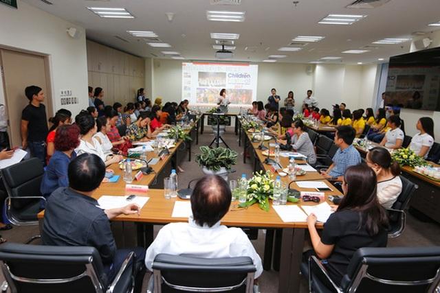 Toàn cảnh buổi họp báo giới thiệu Liên hoan Thiếu nhi ASEAN diễn ra chiều 30/5. Ảnh: BTC.