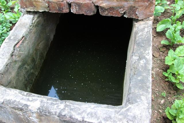 Theo quan sát bằng mắt thường cũng thấy nguồn nước chiếc giếng này không đảm bảo vệ sinh.