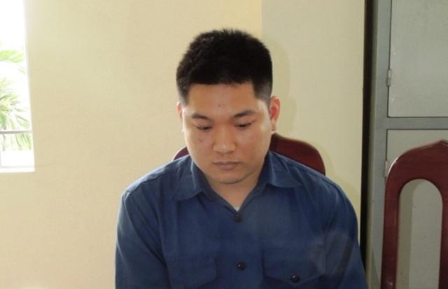 Đối tượng Nguyễn Anh Tuấn tại cơ quan Công an (ảnh: Công an Hà Nam)
