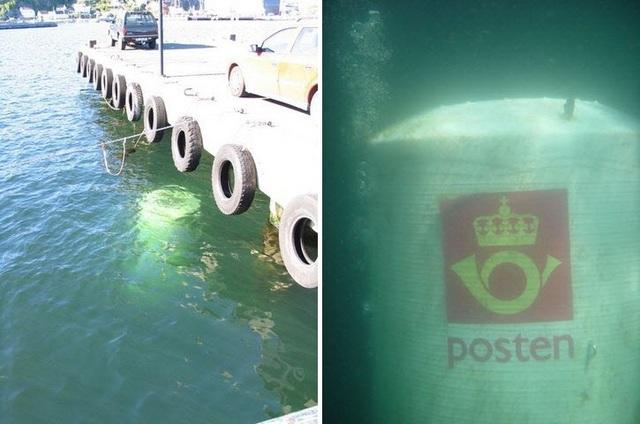 Đi khắp thế giới xem những hòm thư nằm dưới nước siêu độc đáo - 4