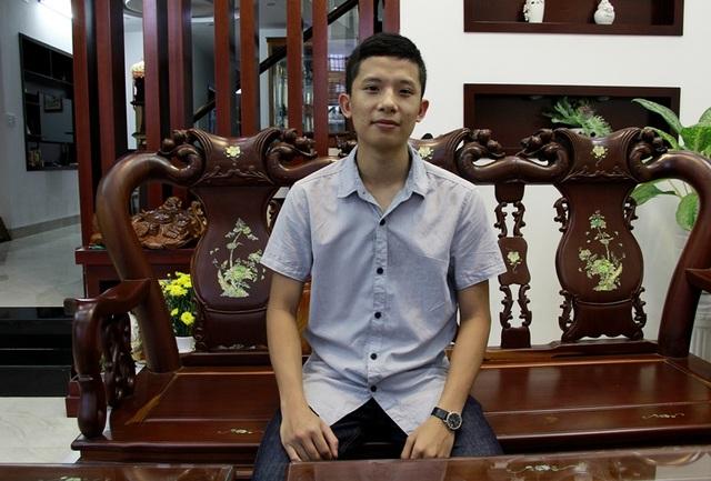 Em Hoàng Huy Thông (lớp 12 Chuyên Toán, trường THPT Chuyên Nguyễn Du, Đắk Lắk) đạt 3 môn điểm 10 khối B