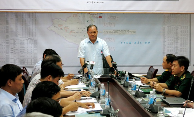 Thứ trưởng Hoàng Văn Thắng: Không được chủ quan trong việc ứng phó với bão.