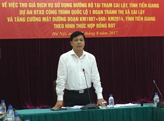 Thứ trưởng Bộ GTVT Nguyễn Ngọc Đông khẳng định không di dời vị trí trạm BOT Cai Lậy