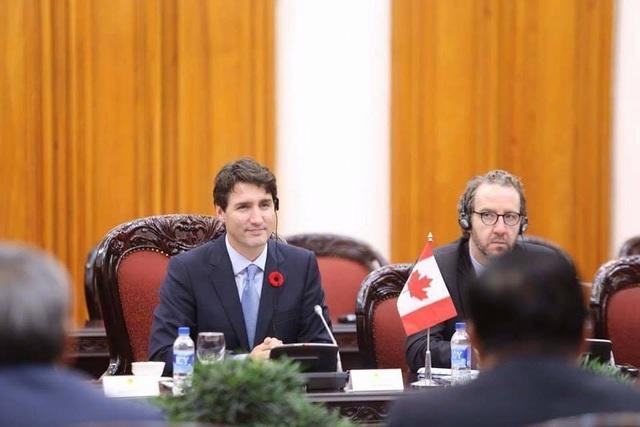 Thủ tướng Canada Justin Trudeau bày tỏ sự vui mừng tới thăm Việt Nam (ảnh: Hữu Nghị)