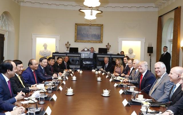 Thủ tướng Nguyễn Xuân Phúc hội đàm với Tổng thống Hợp chúng quốc Hoa Kỳ Donald Trump.