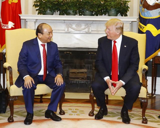 Thủ tướng Nguyễn Xuân Phúc và Tổng thống Hợp chúng quốc Hoa Kỳ Donald Trump